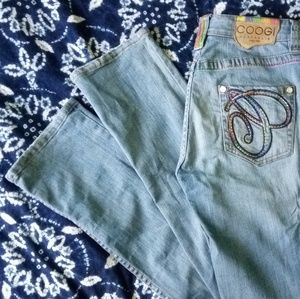 COOGI Light Wash Embellished Jeans